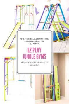 Kids Indoor Gym, Indoor Jungle Gym, Indoor Playroom, Kids Indoor Playground, Kids Gym, Indoor Activities For Kids, Playroom Ideas, Children Playroom, Kid Playroom