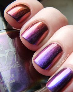 Girly Bits - I Hit My Bunny Phone (Holographics & Multi Chromes Collection Released Fall / PointlessCafe [MultiChrome] Indie Makeup, Creative Nails, Pretty Makeup, Spice Things Up, You Nailed It, Swatch, Beauty Makeup, Nail Designs, Bunny