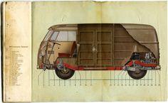 Vintage VW bus ads