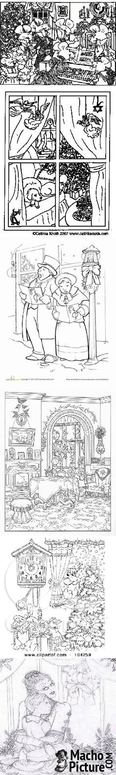 1000 images about victorian christmas coloring pages on for Victorian christmas coloring pages