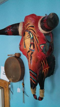 Hand Painted Kokopelli Cow Skull by NativeMemories on Etsy // $189.95