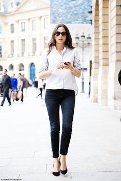 shirt, jeans & heels   capucine safyurtlu