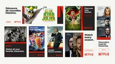 Netflix Branding: Display & Rich Media Ads, scaled depending on its content or brand.