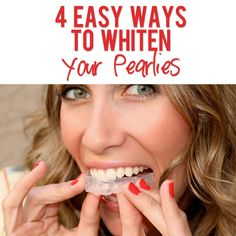 4 Ways to Whiten Your Pearlies | howdoesshe.com #whitenteeth #teeth