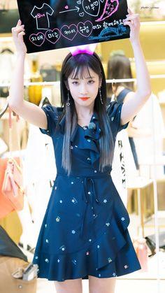 180619 Jamsil Lotte World Mall Idol Job diary Goode Lovelyz Jiae, Woollim Entertainment, Pop Group, Kpop Girls, Cute Dresses, Rapper, Cinderella, Photos, Singer