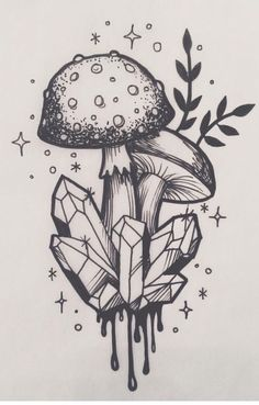 Zeichnen von Ideen Trippy Illustrations Ideas - draw smth everyday, u lazy. - Zeichnen von Ideen Trippy Illustrations Ideas – draw smth everyday, u lazy fuck – # - Trippy Drawings, Art Drawings Sketches, Cute Drawings, Tattoo Sketches, Tattoo Drawings Tumblr, Psychedelic Art, Inspiration Art, Art Inspo, Mushroom Drawing