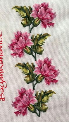 Really nice Cross-Stitch towel flowers patterns. Just Cross Stitch, Cross Stitch Borders, Cross Stitch Flowers, Cross Stitch Charts, Cross Stitch Designs, Cross Stitching, Cross Stitch Embroidery, Hand Embroidery, Embroidery Patterns