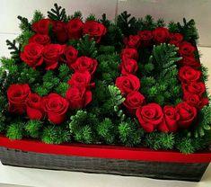 Aniversario de Mislin y Yoel Rosen Arrangements, Creative Flower Arrangements, Beautiful Flower Arrangements, Floral Arrangements, Beautiful Flowers, Flower Box Gift, Flower Boxes, Deco Floral, Floral Design