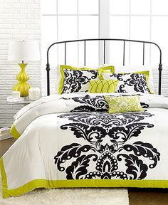 Mallorie 5 Piece Comforter and Duvet Cover Sets - Duvet Covers - Bed & Bath - Macy's Teen Bedding Sets, Twin Comforter Sets, King Duvet Cover Sets, King Comforter, Queen Duvet, Daybed Covers, Dream Decor, My New Room, Beautiful Bedrooms