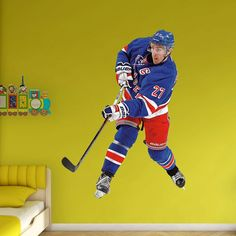New York Rangers Ryan McDonagh Wall Decal by Fathead, Multicolor
