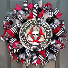 Check out this item in my Etsy shop https://www.etsy.com/listing/464766461/halloween-wreath-zombie-wreath-walking