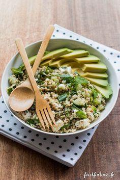 Assiette Complète Quinoa, Sarrasin, Avocat, Concombre, Menthe et Fêta