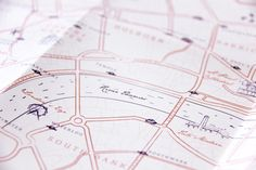 Wedding Invitation - London map - by Allons-y Alonso design d'invitation & fun !