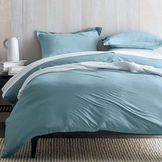 Organic Cotton Jersey Duvet Cover at The Company Store - Bedding - Duvet Covers - Duvet Covers - Twin Green Duvet Covers, Full Duvet Cover, Bed Duvet Covers, Bedding Sets Online, Luxury Bedding Sets, Comforter Sets, Bedding Shop, Linen Bedding, Bed Linens