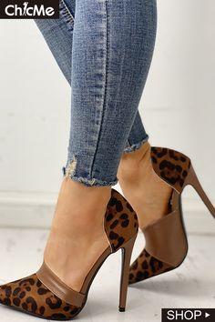 Pointed Toe Suede & PU Heels Hot Shoes, Crazy Shoes, Me Too Shoes, Dream Shoes, Pumps Heels, Hot Heels, Shoes Sandals, Shoe Boots, Stilettos