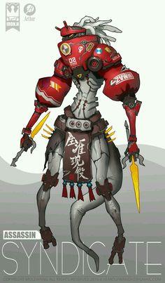 ArtStation - all team, mole wang Robots Characters, Fantasy Characters, Character Concept, Character Art, Arte Robot, Robot Concept Art, Cyberpunk Art, Cyberpunk Anime, Robot Design