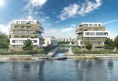 Direkt an der Dahme in Berlin-Grünau entsteht das Neubauprojekt 52° Nord der BUWOG-Regattastraße GmbH & Co. KG.