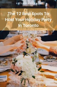 Being in charge of the office holiday party comes with a lot of pressure. Here are 12 Best Toronto spots to throw your office holiday party. Office Holiday Party, Holiday Parties, Thing 1 Thing 2, Toronto, Shopping, Food, Meals, Yemek, Parties