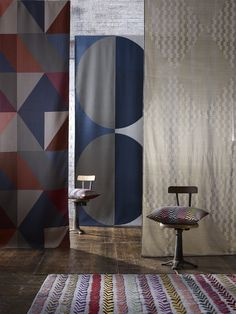 Large Scale Woven Fabrics from the Margo Selby Santa Fe Collection.