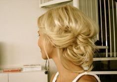 Spring wedding hairstyles: #hair #bun