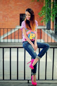 combinar zapatos rosas