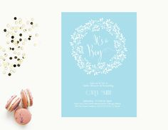Word Template baby shower Invitation | Editable Word Template | Printable | Instant download | blue