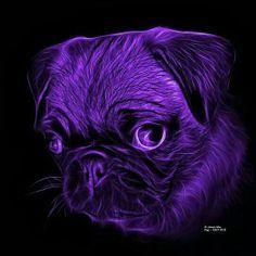 James Ahn - Art for Sale Funny Animals, Cute Animals, Pug Art, Black Pug, Cute Pugs, Pug Love, Pillow Sale, Animal Pillows, Pet Dogs
