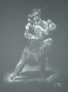 Tango Sketch by Marina Sirota Tango Art, Lets Dance, Pencil Drawings, Statue, Explore, Artwork, Poster, Sketch, Gift Ideas