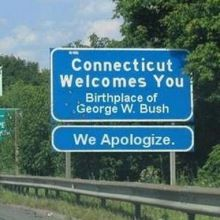 Sorry about George Bush