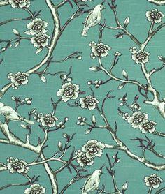 Robert Allen @ Home Vintage Blossom Jade Fabric - $18.6 | onlinefabricstore.net | #officechairs