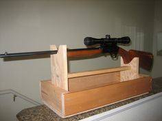 Homemade Gun Safe. See More. Diy Rifle Rest   Google Zoeken