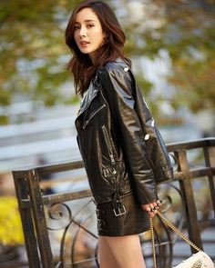 Asia Girl, Chinese Actress, Japanese Girl, Japanese Female, Beautiful Asian Women, Sexy Asian Girls, Beautiful Actresses, Asian Fashion, Leather Fashion