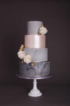 Marble Wedding Cake Grey - Page 2 of 31 - Wedding Dream - Vanesha O Jioda Blush Wedding Cakes, Small Wedding Cakes, Pretty Cakes, Beautiful Cakes, Amazing Cakes, Rehearsal Dinner Cake, Make Your Own Wedding Cakes, Wedding Ideas Board, Cake Makers