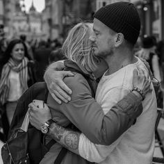Saying Goodbye. by Mike Back - Black & White Portraits & People ( cool, sweden, streetphotography, stockholm, street pic, beautiful, street, i am the best photographer here, son, streetpic, photo, street photography, love, street life, mother, streetlife, tattoos, best photo, street photo, streetphoto )