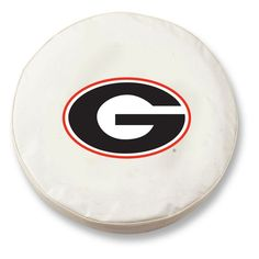 Georgia Bulldogs White Tire Cover w/ Security Grommets