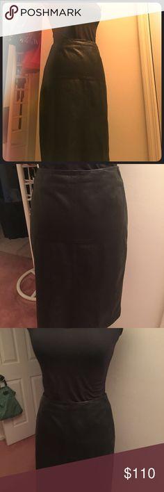Leather soft Black Skirt Hugo Black leather Skirt midi Hugo Boss Skirts Pencil