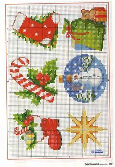 Gallery.ru / Фото #27 - Dein Kreuzstich magazin 6 2008 - moimeme1 Cross Stitch Christmas Ornaments, Xmas Cross Stitch, Christmas Embroidery, Christmas Cross, Counted Cross Stitch Patterns, Cross Stitch Charts, Cross Stitching, Cross Stitch Embroidery, Embroidery Patterns