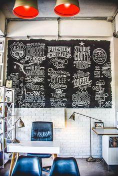 Roastery wall 9 grama coffee
