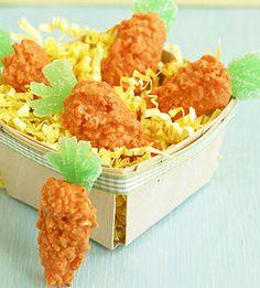 rice crispy treat carrots holiday, rice krispi, carrot crispi, food coloring, krispie treats, carrot treat, easter bunny, easter treats, rice crispy treats