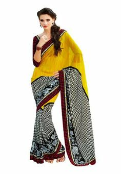 Fabdeal Indian Designer Georgette Yellow Printed With Lace Border Saree Fabdeal, http://www.amazon.de/dp/B00INWLPGK/ref=cm_sw_r_pi_dp_pp8otb0HMG0AZ
