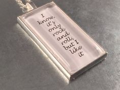 You Can't Always Get What You Want Necklace The by urbanindustries