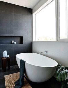 Grey tiled bathroom ideas full size of bathroom tile ideas gray and white bathroom grey bathrooms grey wood grain tile bathroom ideas Gray And White Bathroom, Grey Bathrooms, Beautiful Bathrooms, Black Bath, Charcoal Bathroom, Slate Bathroom, Silver Bathroom, Bathroom Renos, Laundry In Bathroom