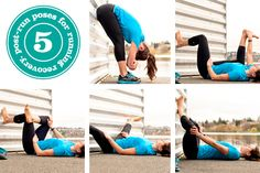 5 post-run poses for running recovery