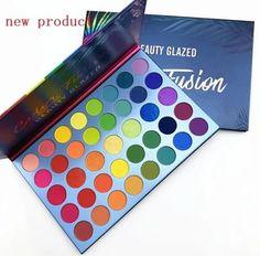 Glitter Eyeshadow, Eyeshadow Makeup, Eyeshadow Palette, Makeup Brushes, Colorful Eyeshadow, Colorful Makeup, Best Makeup Brands, Beauty Glazed, Unique Makeup