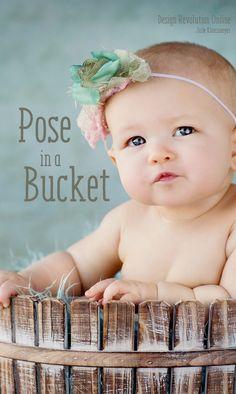 Pose in a bucket Pinterest