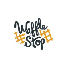 like this type of font too but im afraid if it's too cursive people wont be able to read it Food Logo Design, Logo Food, Identity Design, Brand Identity, Pollo Y Waffles, Hashtag Logo, Sweet Logo, Inspiration Logo Design, Cafe Logo