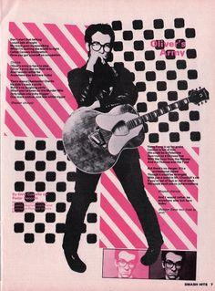 Duotone Elvis Costello.