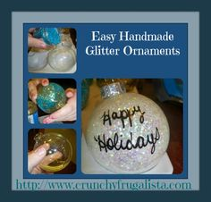 Holiday Crafts for Kids: Homemade Glitter Ornaments