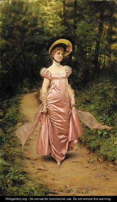 The Afternoon Stroll - Charles Joseph Frederick Soulacroix