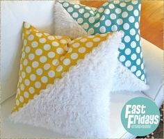 Fast Fridays: Faux Fur and Cotton Half & Half Pillows | Sew4Home